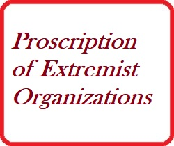 Regulation and Order Issued by H.E. the President on Proscription of Extremist Organizations, May 13, 2019